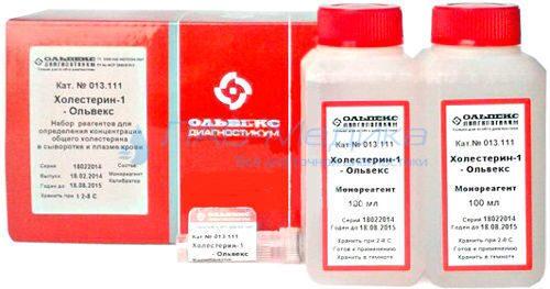обозначен холестерин в анализе крови